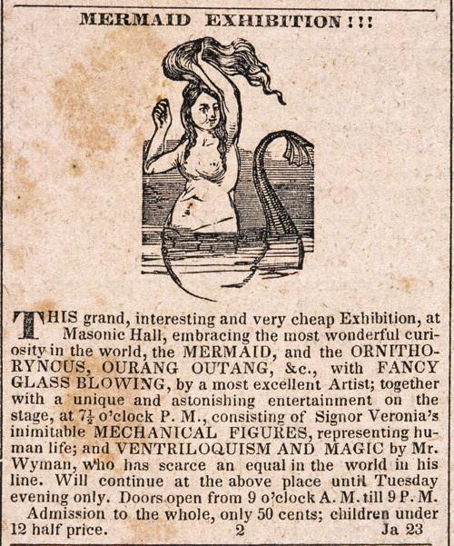 The Feejee Mermaid 1842